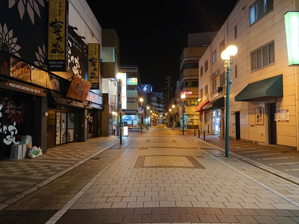 緊急事態宣言中の浜松市モール街