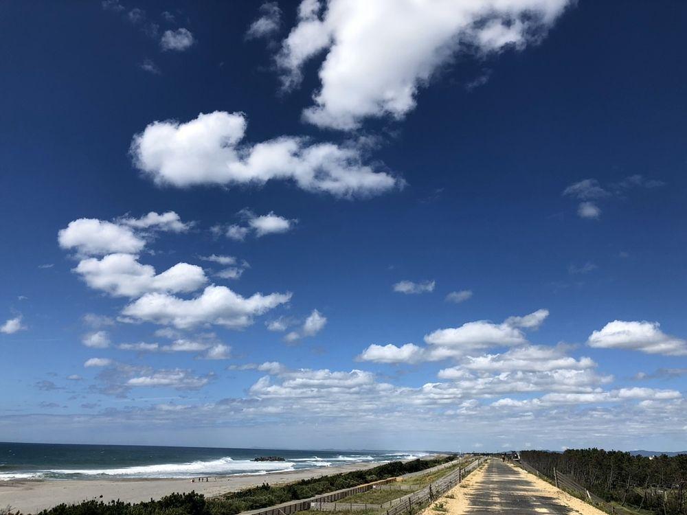 浜松市沿岸域防潮堤、遠州灘沿いに築造されました。