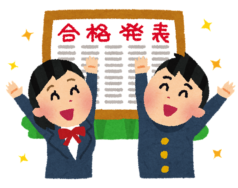 本日は【静岡県私立高校入学試験合格発表】