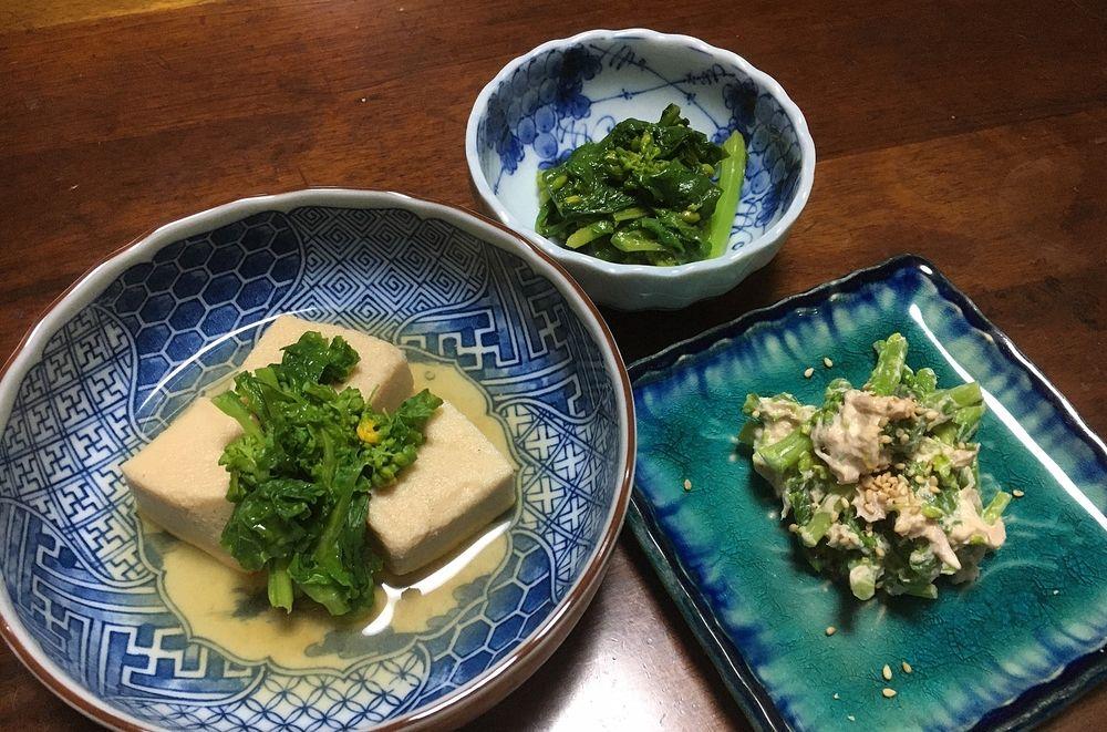 菜の花料理に挑戦!